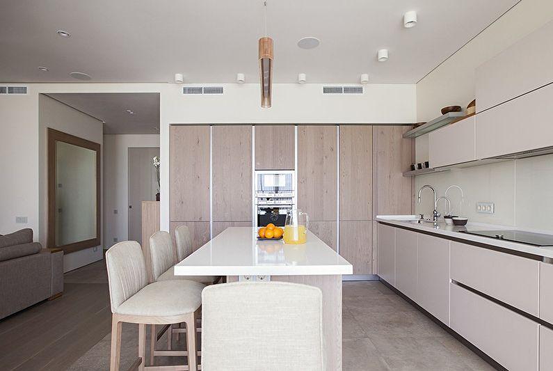 Conception de cuisine dans le style du minimalisme - photo