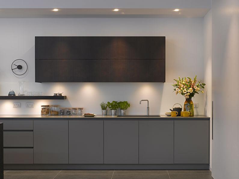Cuisine gris minimalisme - photo