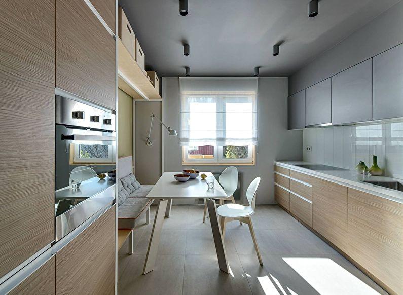 Cuisine beige dans le style du minimalisme - photo