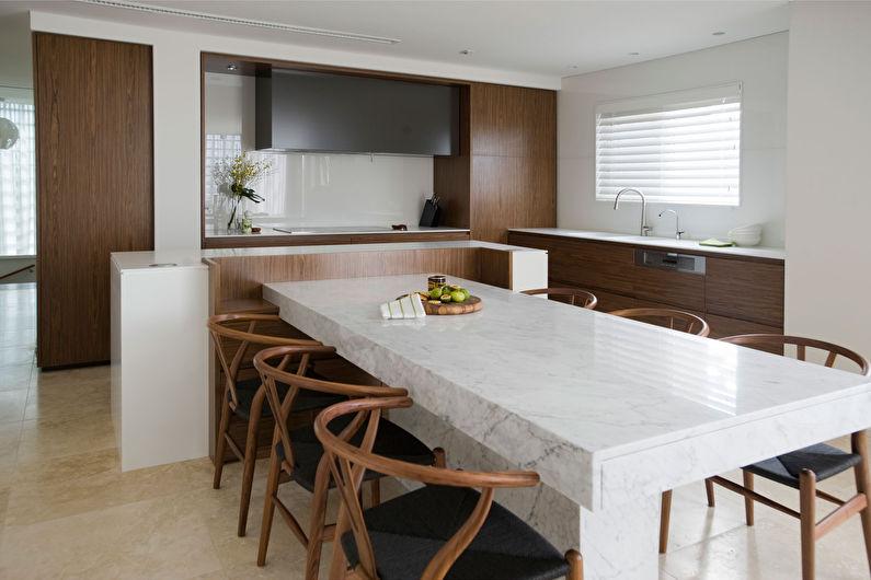 Cuisine marron minimalisme - photo