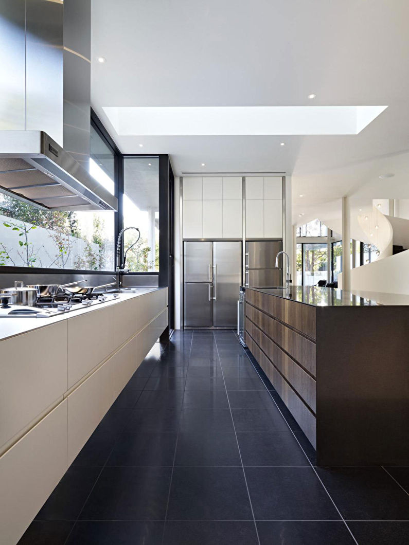 Design de plancher - Cuisine de style minimaliste