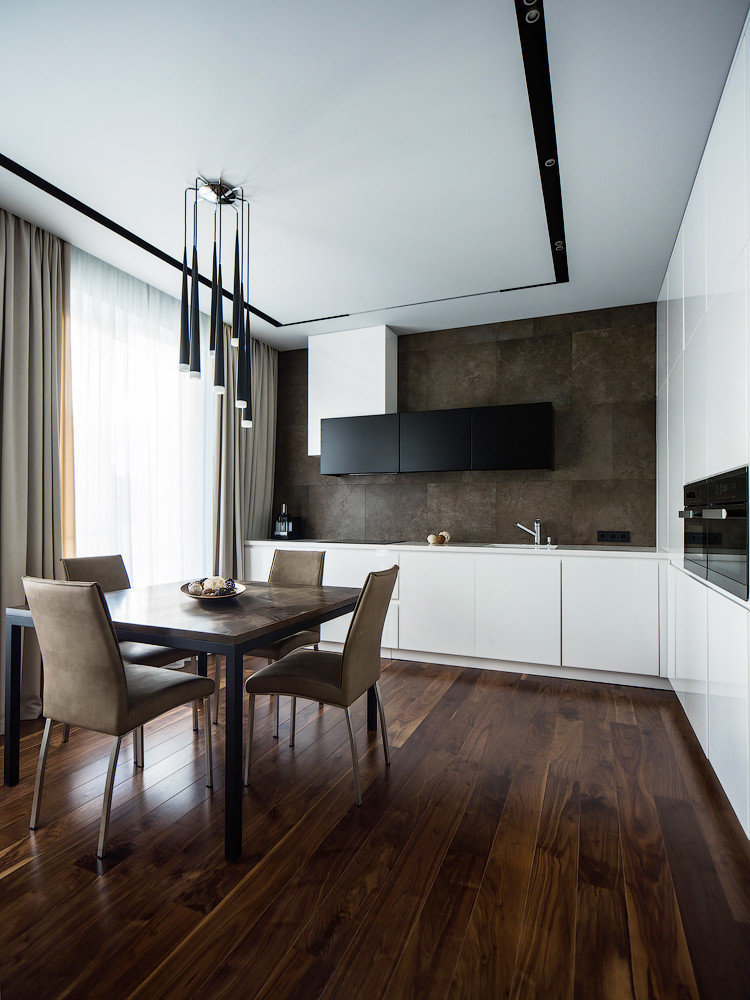 Conception de plafond - Cuisine de style minimalisme