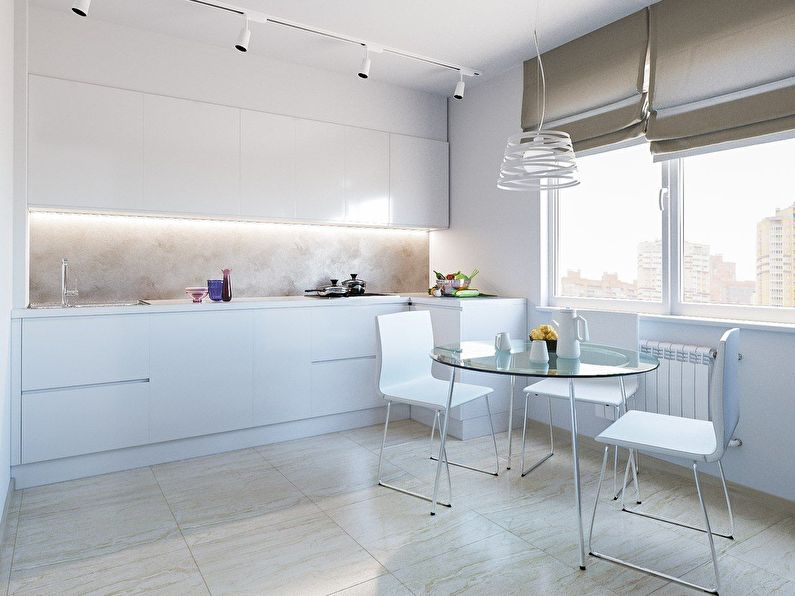 Rideaux pour la cuisine dans le style du minimalisme