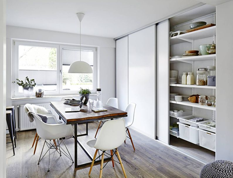 Systèmes de rangement - conception de cuisine de style minimaliste