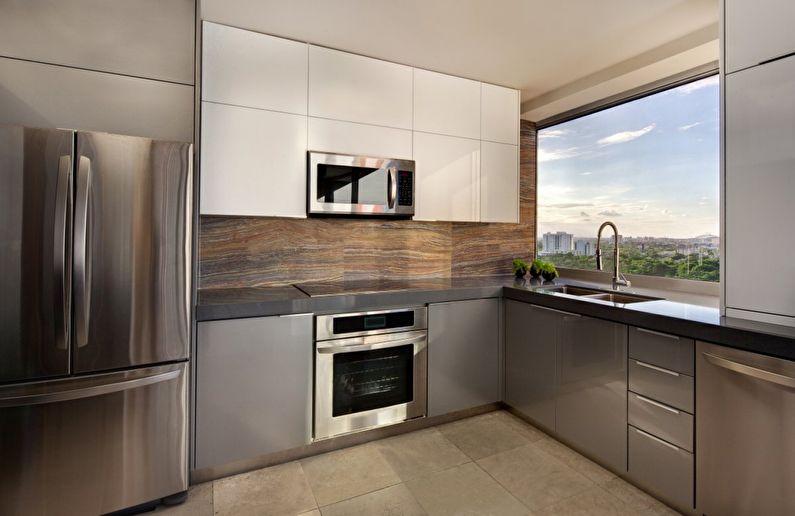 Réfrigérateur - design de cuisine de style minimaliste