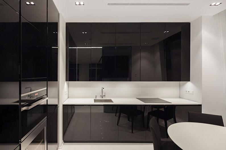 Conception d'une petite cuisine dans le style du minimalisme - photo