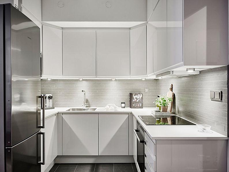 Conception de cuisine d'angle minimalisme - photo
