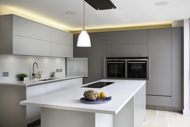 Conception de cuisine de style minimaliste: 60 photos d'intérieurs