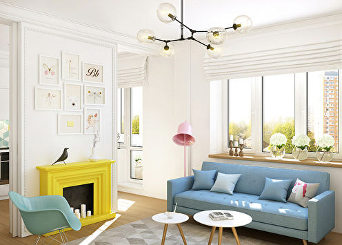 Le projet de l'appartement est de 40 m². pour une jeune fille