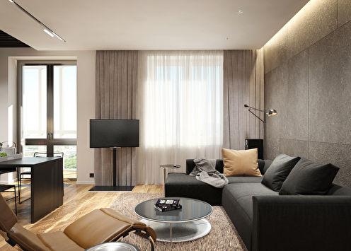 L'intérieur de l'appartement est de 36 m².