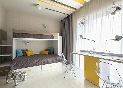 1 + 1: Conception d'une chambre d'enfant pour deux enfants