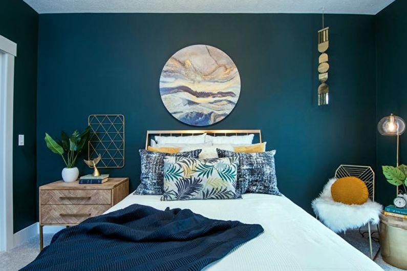 Chambre bleu-vert - Design d'intérieur 2018
