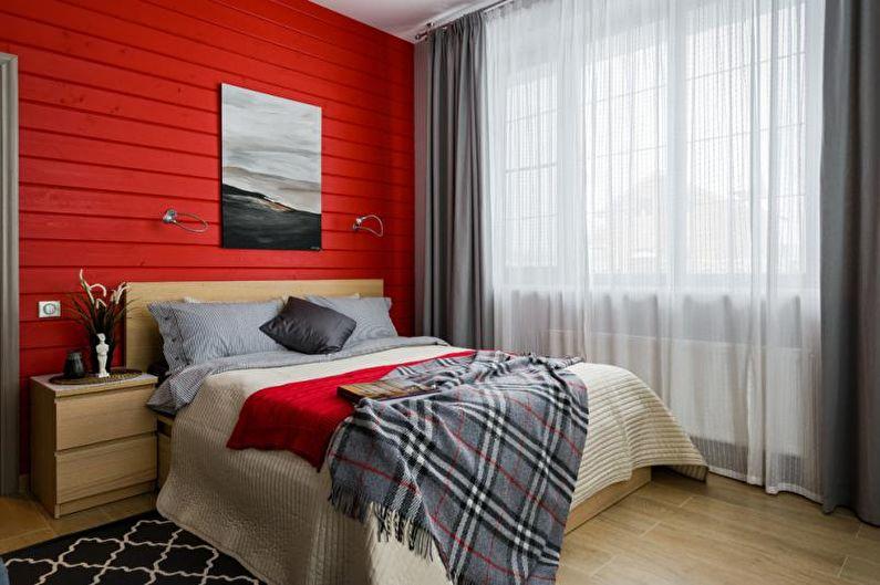 Chambre rouge - Design d'intérieur 2018