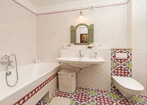 Combinaisons de couleurs dans la salle de bain: 70 idées