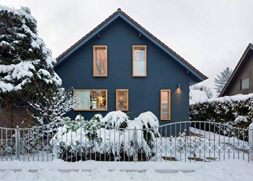 Maison de campagne scandinave (+75 photos)