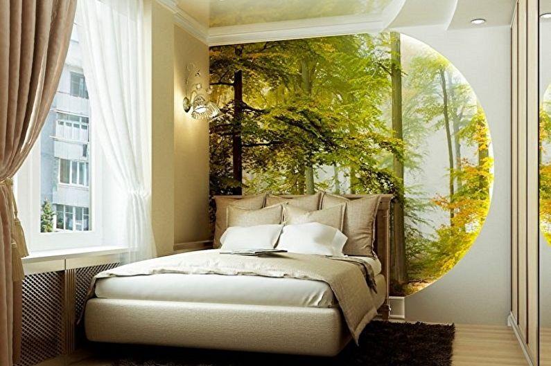 Conception de la chambre 15 m2 - décoration murale