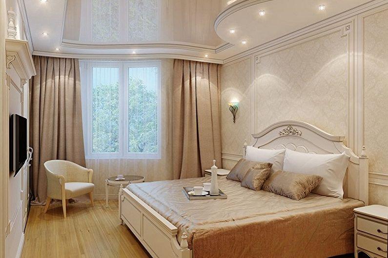 Conception de la chambre 15 m2 - décoration de plafond