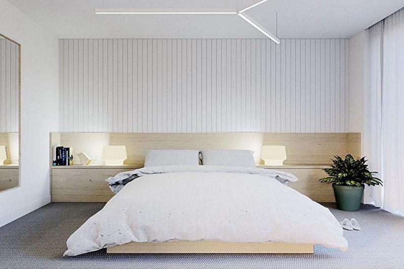 Chambre 15 m2 dans le style du minimalisme - Design d'intérieur