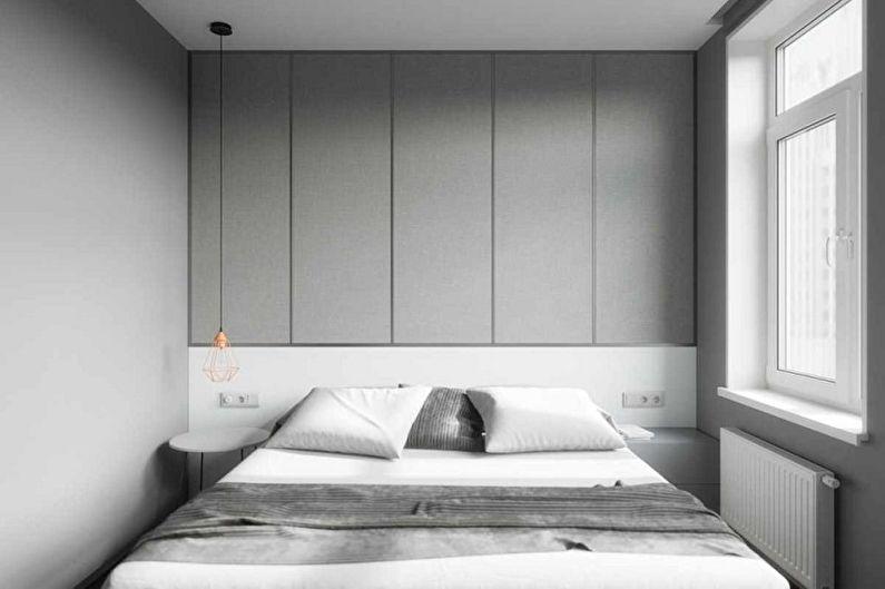 Chambre 15 m2dans le style du minimalisme - Design d'intérieur