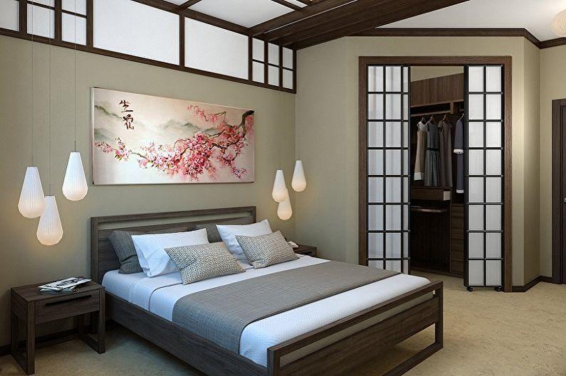 Chambre 15 m2 dans le style japonais - Design d'intérieur