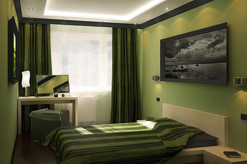 La décoration intérieure de la chambre est de 15 m². - photo