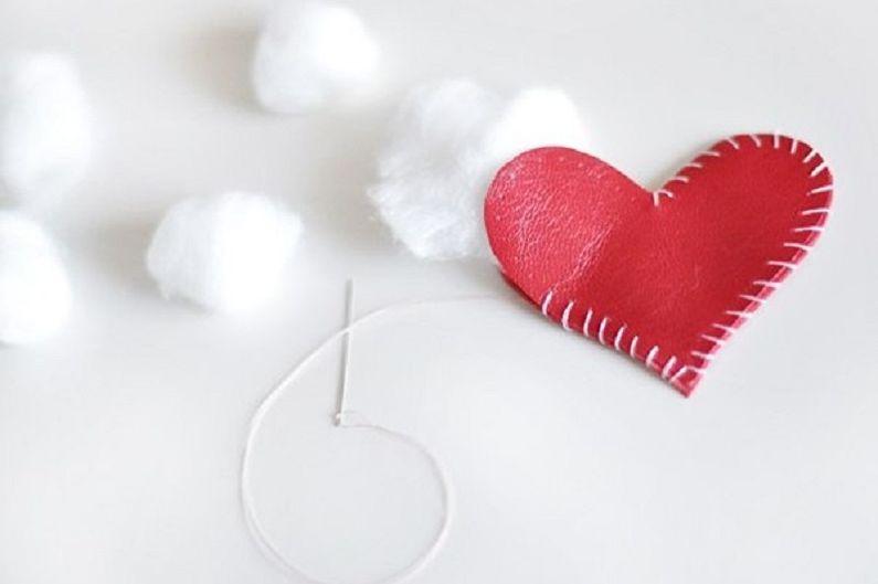 Cadeau bricolage pour le 14 février - Porte-clés coeur