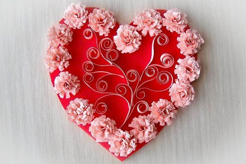 Cadeau bricolage pour le 14 février - Carte de Saint Valentin