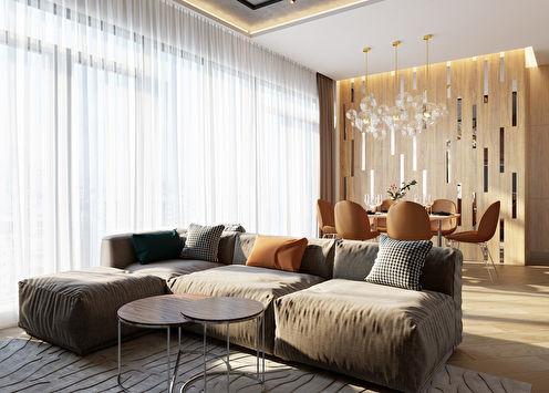 Cuisine-salon Elégance et confort