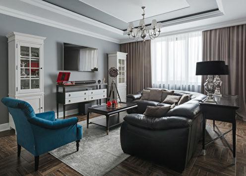 Salon de style classique avec des accents vibrants