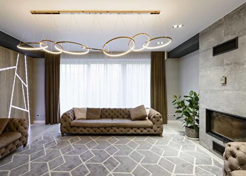 Séjour dans un style moderne, 40 m2