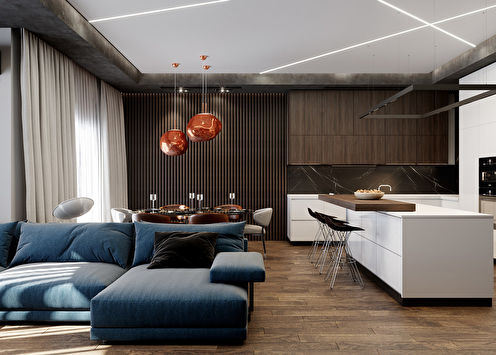Cuisine-salon Énergie tranquille