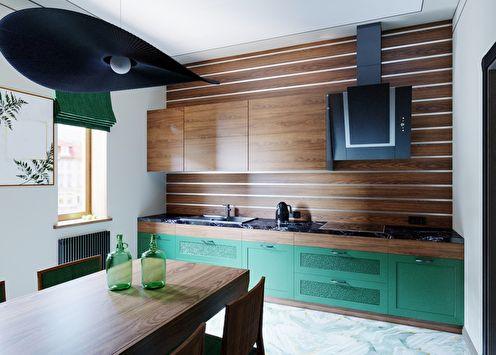 Vert émeraude: projet de conception de cuisine