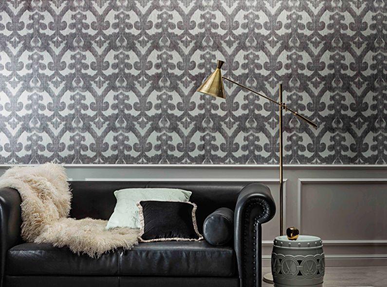 Papier peint textile pour la salle