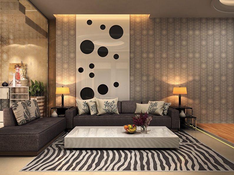 Papier peint pour le salon dans un style moderne