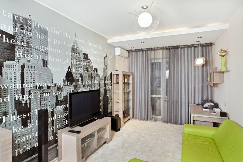 Papiers peints pour un salon de style moderne
