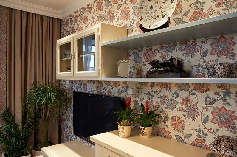 Papier peint salon style Provence