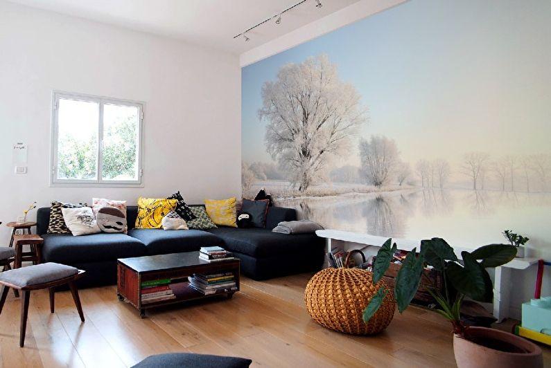 Papiers peints pour le salon dans le style scandinave