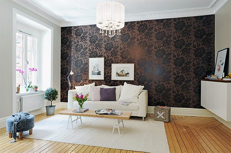 Papier peint marron pour la salle