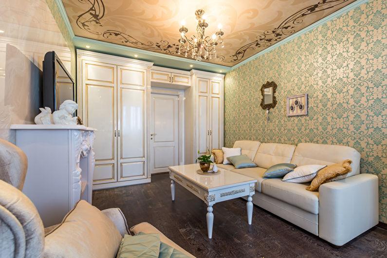 Papier peint avec des ornements pour la salle dans un style classique