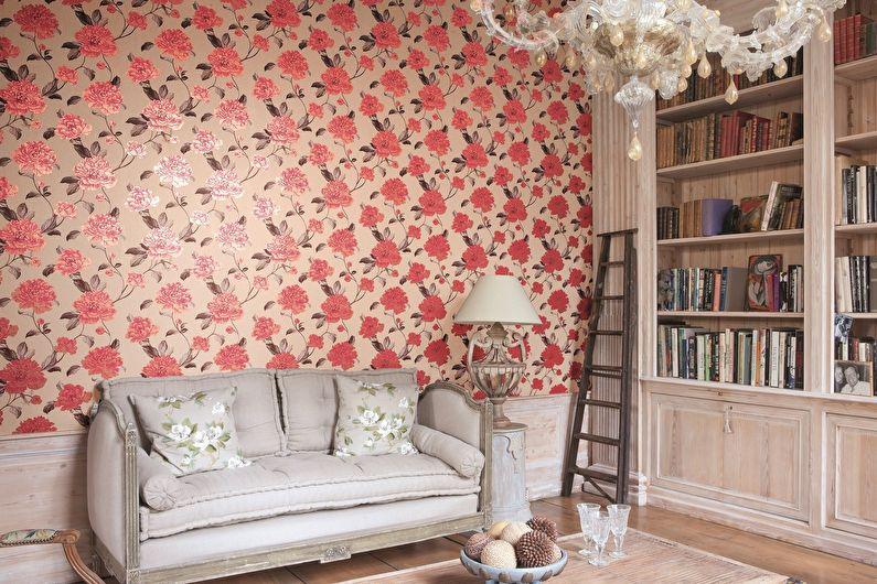 Papier peint floral pour une chambre dans le style provençal