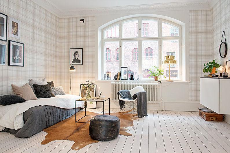 Papier peint dans la cage du hall - style scandinave d'intérieur
