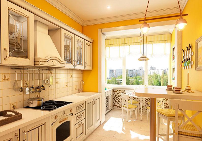 Conception de cuisine orange de style Provence