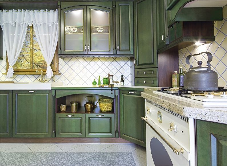 Conception de cuisine verte Provence