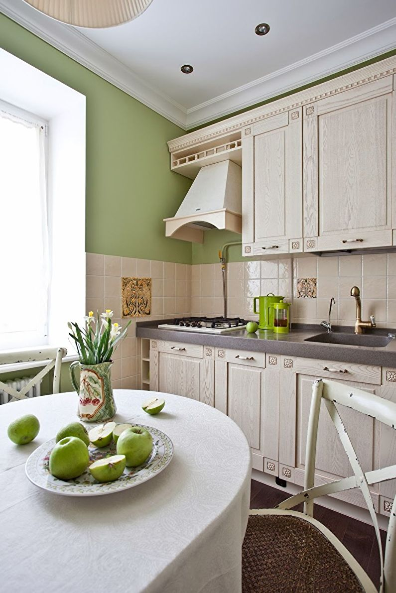 Design de cuisine beige style Provence