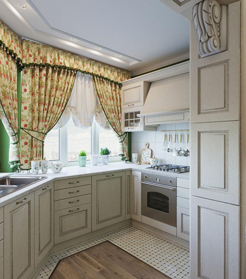 Conception d'une petite cuisine dans le style provençal