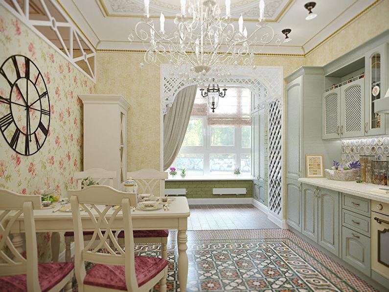 Papier peint pour la cuisine dans le style provençal
