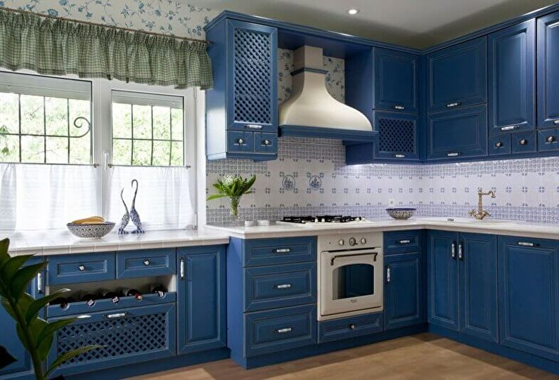Aménagement intérieur d'une cuisine dans le style provençal (50 photos)