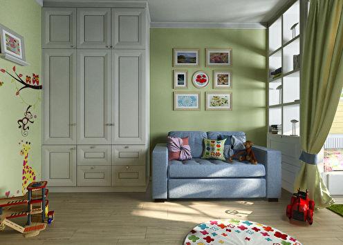 Chambre d'enfant pour garçon et fille, 20 m2