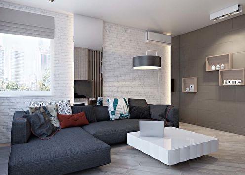 Studio de style loft pour un jeune couple