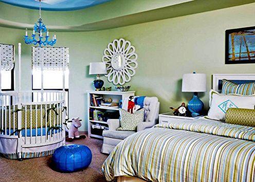 Chambre et chambre d'enfants dans une pièce: 90 idées de photos
